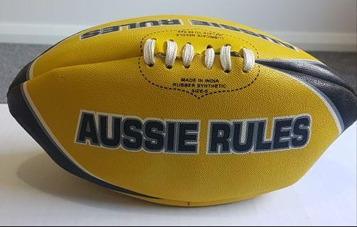 AUSSIE Rules Yellow & Black Football