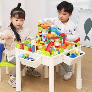 多用途積木枱套裝 (1枱+2凳) 大Lego合用