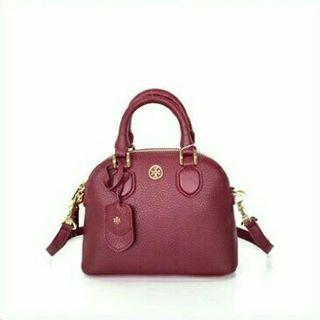 Tory Burch Pebbled Mini Dome / Tas Tory Burch Pebbled Original Murah / Tas Tory Burch Authentic