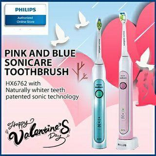 Philips 2 Pack Sonicare HealthyWhite Electric Toothbrush HX6762