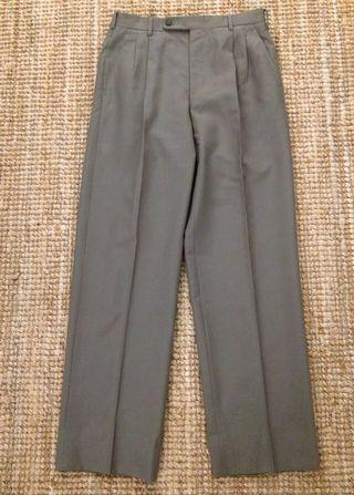 Vintage Japanese green color wool pant