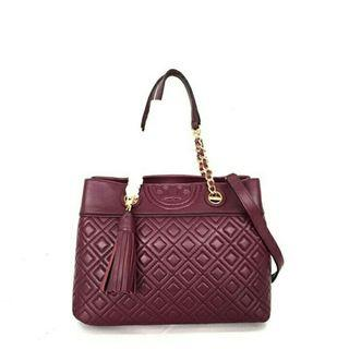 Tory Burch Fleming Small Satchel / Tas Tory Burch Felming Original Murah / Tas Tory Burch Authentic