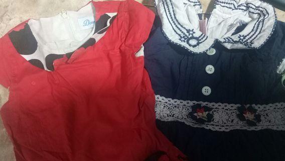 2 dress cantik merk donita dan nikita matahari brand