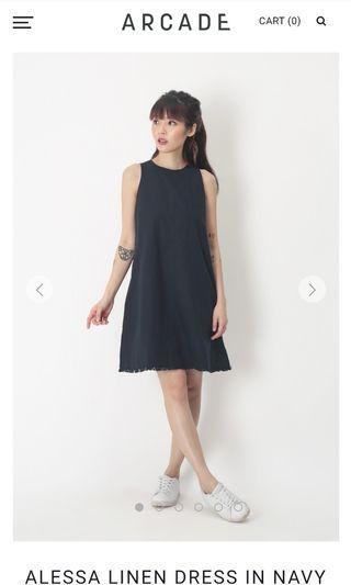 1df37b383a5 Selling BNWT AFA Alessa Linen Dress in Navy (XS)