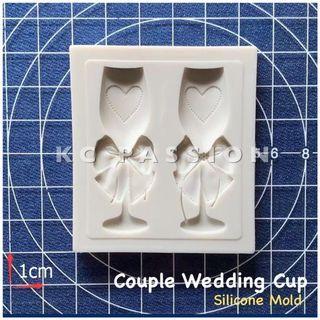 🥂 COUPLE WEDDING CUP SILICONE MOLD