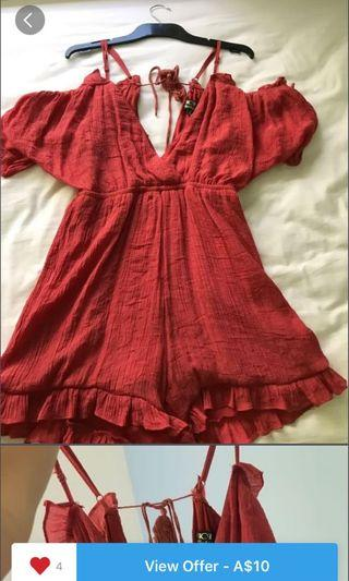 Red Playsuit #SwapAu