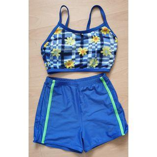 Waveline Ladies 2 pieces Blue Swim Suit