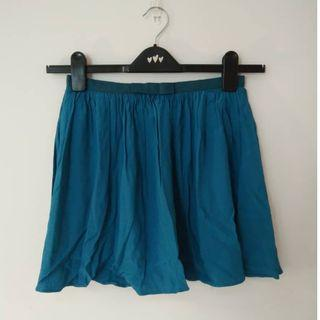 TOPSHOP PETITE Blue Skirt