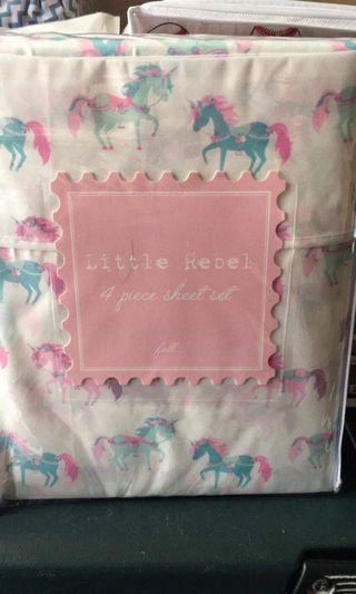 Unicorn full size Bed Sheet