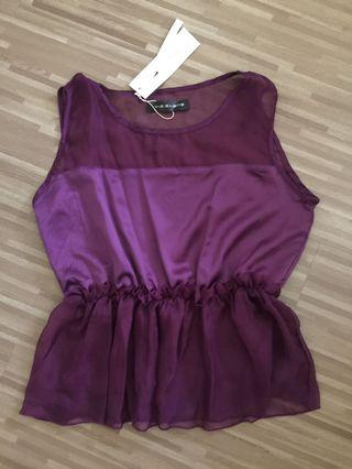 🚚 BN Purple Peplum Top