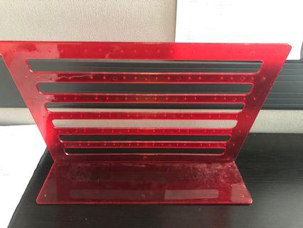 Acrylic earrings stand fits 48 pairs