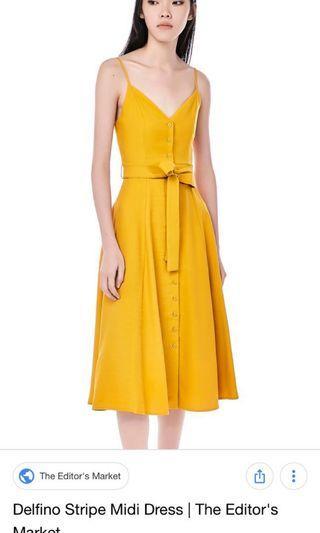 🚚 Tem delfina yellow dress