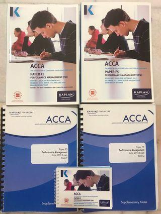 ACCA F5 PM Performance Management