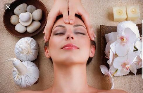 Facial Treatment Relaxing