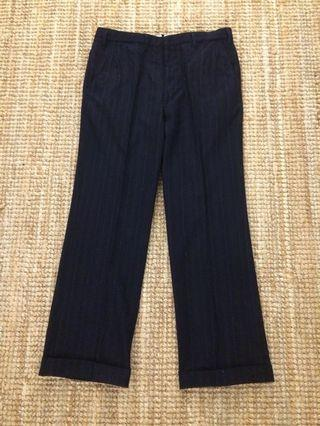 Vintage English wool stripes pant