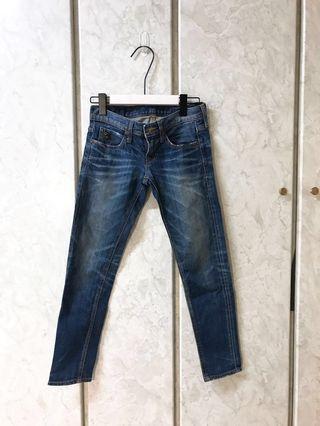 🚚 [正韓]緊身合腿激瘦刷色中腰牛仔褲 原價3000多