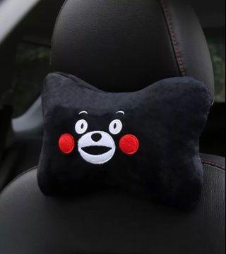 汽車頸枕一對_熊本熊