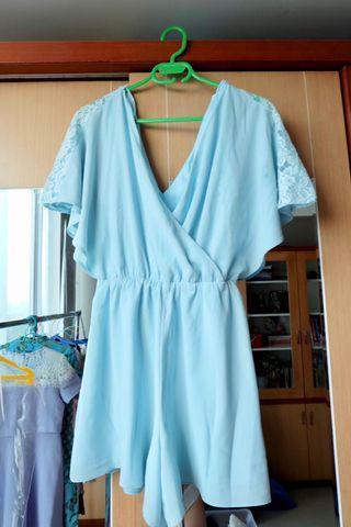 Baby Blue Jumpsuit by Miss Selfridge