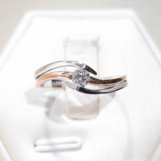 Triple Band Wave Diamond Ring