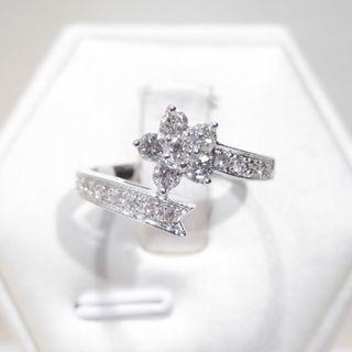 Shooting Star Pave Diamond Ring