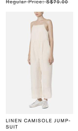 Beyond the vines linen jumpsuit in nude uk4