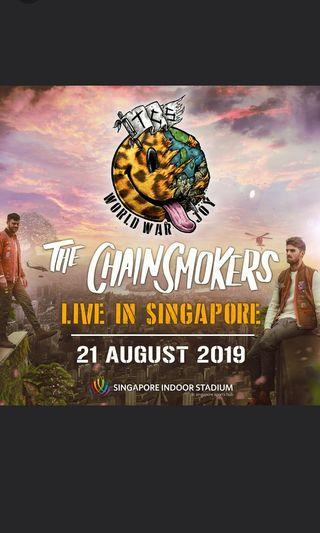 2 x Cat 1 Chainsmokers tickets