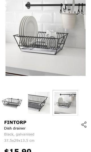 Ikea fintorp Black dish rack