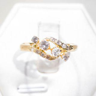 Lattice Filigree Diamond Ring