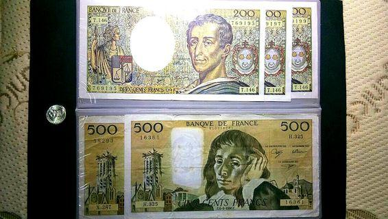 Old French 🇭🇺 20, 100, 200, 500 banknotes can buy to me or exchange old banknotes bills at the same price with me.