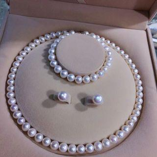 🚚 Natural Pearls Necklaces with 925 Silver