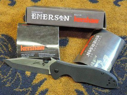 Kershaw Emerson CQC-7K Black G10 Handle Tanto Blade With Wave