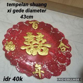 Tempelen shuang xi dinding