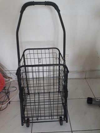 Floor shopping cart portable folding cart