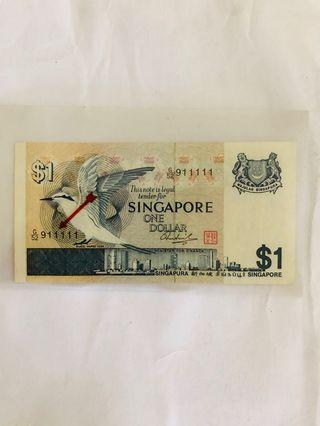 🚚 SG Birds Series! One dollar Solid Numbers 911111
