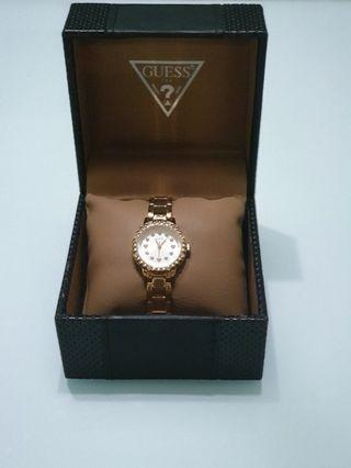 Guess Ladies Gold plated watch