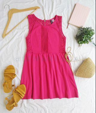 H&M Lace Back Flare Dress