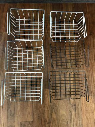 6 X Hanging Basket Rack