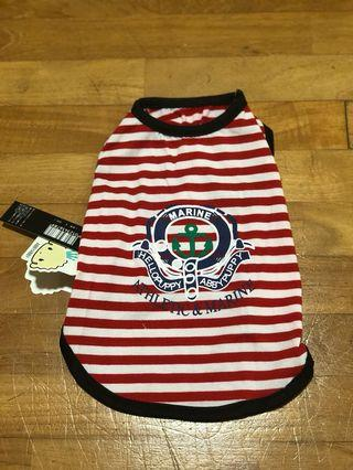 Red striped dog shirt/clothes, pirate