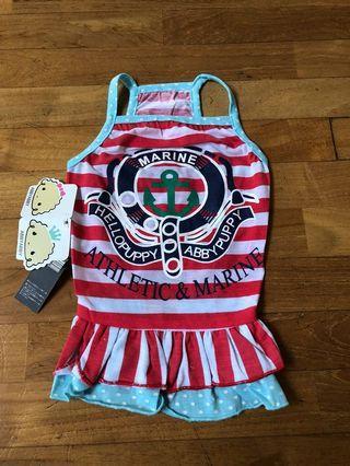 Dog dress/clothes, cute marine dog dress