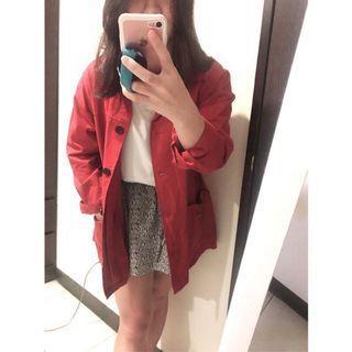 紅色襯衫外套