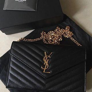 YSL WOC Wallet on Chain GHW Large 22.5cm