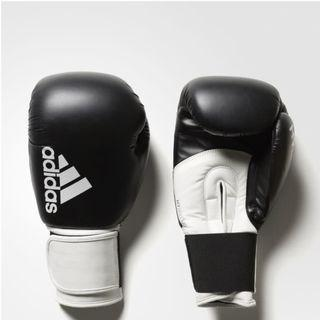*SALE* Adidas Hybrid 100 Black & White Muay Thai Gloves *SALE ONLY for size 12oz*