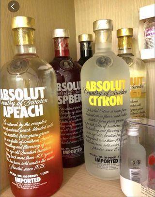 🚚 Absolut Vodka x 5 bottles / Not malt
