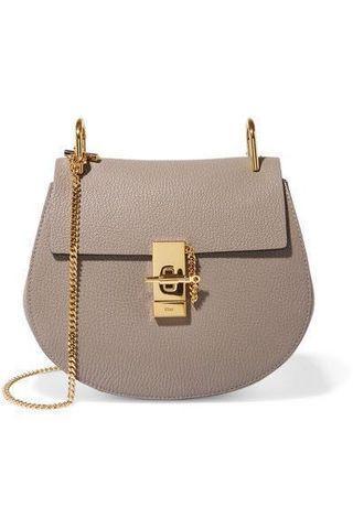 Chloe Drew Shoulder Bag in Grey