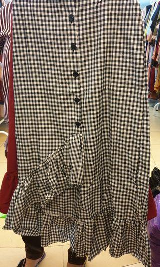 Assymetrical Midi Skirt
