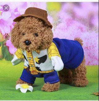 Dog Woody costume/dog clothes