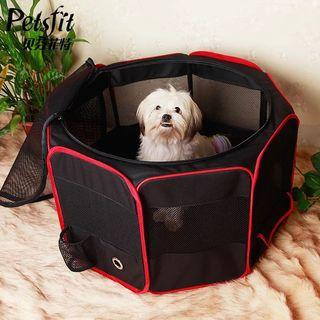 CLEARANCE $75 - Foldable pet crate - Black