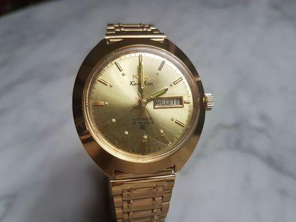 hmt Kanchan Auto Day/Date Gold Men Watch