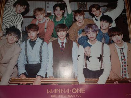 WANNA ONE OFFICIAL NWY Poster