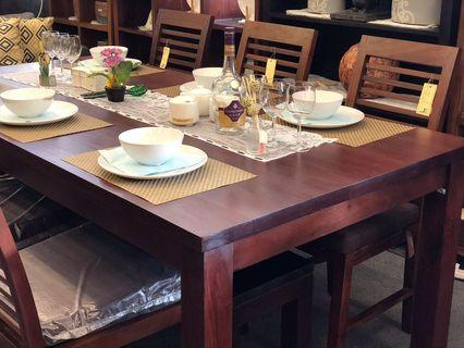 Teak Dining and 6 Chair Special Package Solid EXTRA%OFF